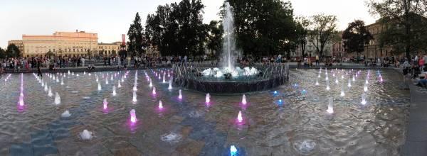 Plac Litewski w Lublinie- Fontanny